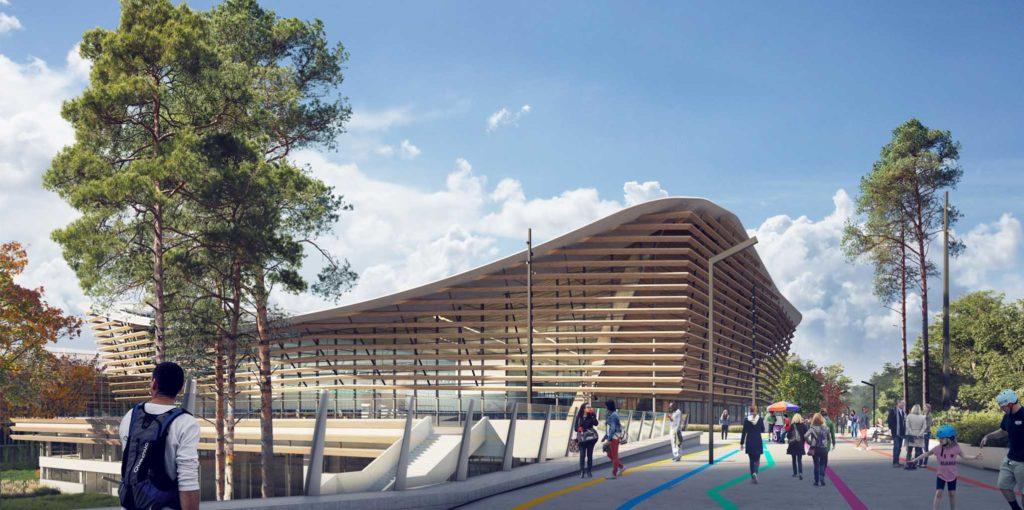 Aquatics Centre Paris 2024 Olympic Games - Credit: Architectes VenhoevenCS & Ateliers 234 / Proloog